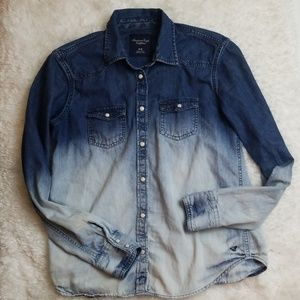 American Eagle Outfitters denim blouse size medium